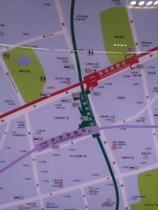 陝西南路駅周辺図