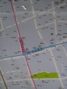馬当路駅周辺図