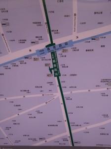 嘉善路駅周辺図