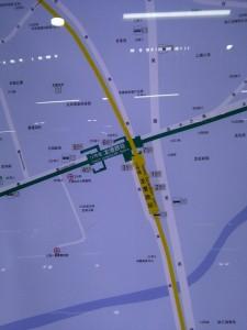 龍漕路駅周辺図