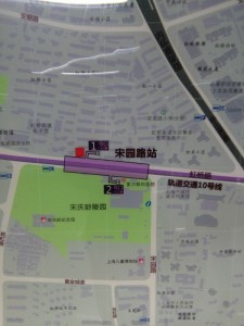 天潼路駅周辺図
