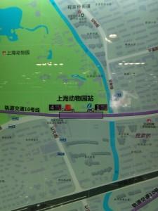 上海動物園駅周辺図