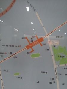 長清路駅周辺図(出入り口)