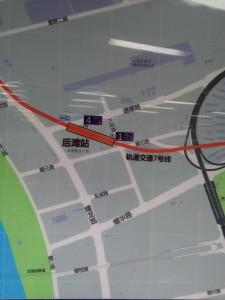 後灘駅周辺図(出入り口)