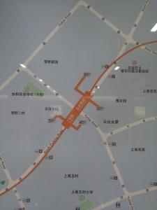 雲台路駅周辺図(出入り口)