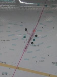 上海児童医学中心駅周辺図(出入り口)