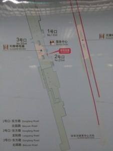 上海児童医学中心駅構内図