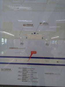 塘橋駅構内図