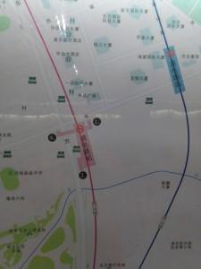浦電路駅周辺図(出入り口)
