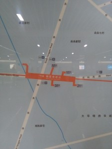楊高南路駅周辺図(出入り口)