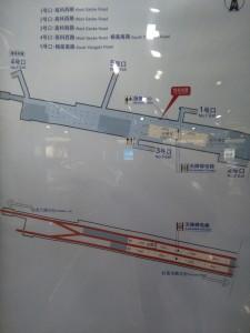 楊高南路駅構内図