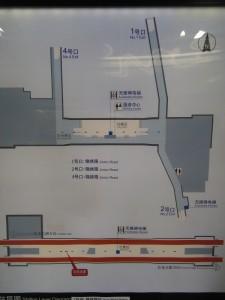 錦綉路駅構内図