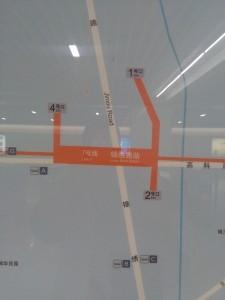 錦綉路駅周辺図(出入り口)