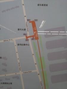 花木路駅周辺図(出入り口)