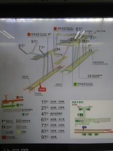 龍陽路駅構内図