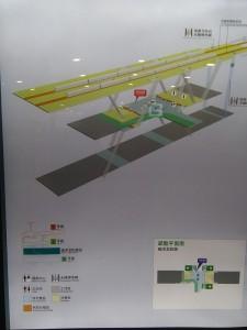 上海リニア龍陽路駅構内図