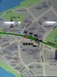 陸家嘴駅周辺図(出入り口)