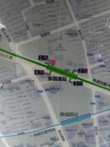 東昌路駅周辺図