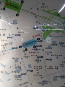 商城路駅周辺図(出入り口)