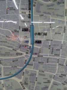 小南門駅周辺図(出入り口)