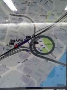 南浦大橋駅周辺図(出入り口)
