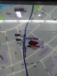 中華芸術宮駅周辺図(出入り口)