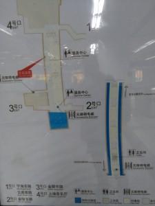 大世界駅構内図