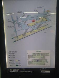 漕宝路駅構内図