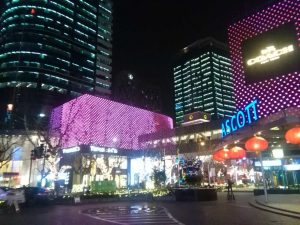 淮海路の夜景