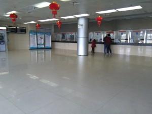 上海長途客運東站の切符売り場