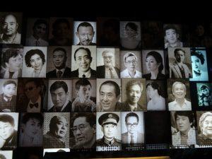 過去の中国映画スターや功労者たち