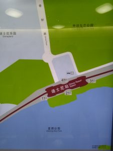 迪士尼駅周辺図(出入り口)