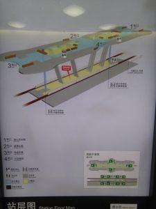 迪士尼駅構内図