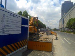 建設が始まった上海のBRT