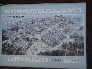 楓涇古鎮の案内図