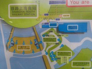 上海南駅南広場相関図