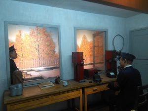 鉄道博物館内の展示