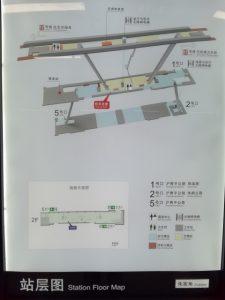 朱家角駅構内図