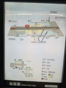 匯金路駅構内図