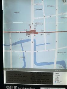 匯金路駅周辺図(出入り口)