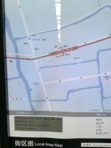 趙巷駅周辺図(出入り口)