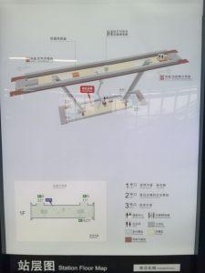 徐涇北城駅構内図