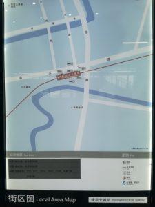 徐涇北城駅周辺図(出入り口)