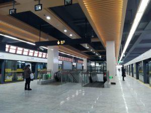 徐盈路駅ホーム