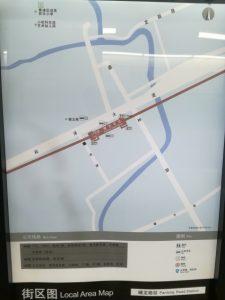 蟠龍路駅周辺図(出入り口)