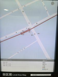 諸光路駅周辺図(出入り口)