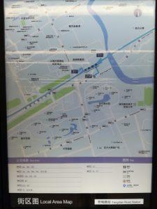 芳甸路駅周辺図(出入り口)