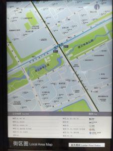藍天路駅周辺図(出入り口)