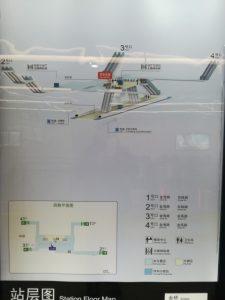 金橋駅構内図