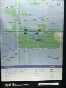 金吉路駅周辺図(出入り口)